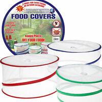 3 X COLLAPSIBLE POP UP FOOD COVERS KITCHEN OUTDOOR INSECT FLY PROTECTOR MESH NET