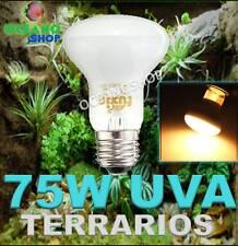 BOMBILLA 75W UVA UVB UV REPTILES ANFIBIO TERRARIO TORTUGA LAMPARA E27 INCUBADORA