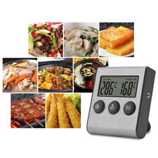 Digital Probe Oven Meat Thermometer Timer Bbq Grill Food Cooking Kitchen Tool