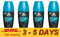 4 x ADIDAS Roll On Men Anti-Perspirant 48H Protection Deodorant 40 ml. Ice Dive