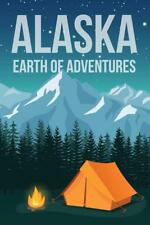 Alaska Earth of Adventures Retro Travel Art Mural Poster 36x54 inch