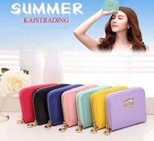 Womens Fashion Clutch Zipper Leather Short Handbag Wallet Coin Purse Gift