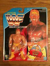 WWF Series 5 Hulk Hogan Shirtless Hulkster Slam Hasbro Figure 1993 MOC Blue Card
