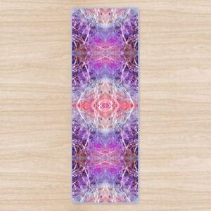 Light Mandala Padded Yoga Mat High Quality UK Design Non-Slip, Rubber base.
