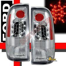 97-03 Ford F150 97-07 F250 F350 Super Duty Pickup Chrome LED Tail Lights