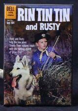 "Rin Tin Tin and Rusty #36 Dell Comic Book 2"" X 3"" Fridge / Locker Magnet."