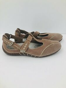 Allrounder Niro Mephisto Women's Size 10 Natural Slip On MJ Casual Flat Shoes