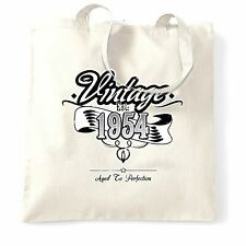 Birthday Tote Bag Vintage Est 1954 Aged To Perfection Distressed Design