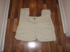 Lane Bryant Womens Chinos Khaki Pants sz 20 / Rolled Cuff Cotton Blend (NEW)