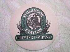 Beer Coaster ~<>~ FLOSSMOOR Brewing Co ~*~ Good Times, Food, Friends in ILLINOIS