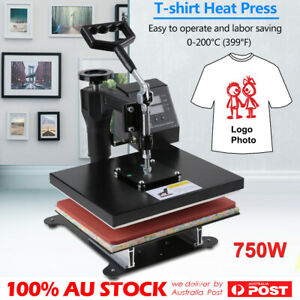 "12"" Digital Heat Press Transfer T-Shirt Uniform DIY Sublimation Printing Machine"