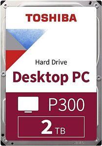 HARD DISK INTERNO DESKTOP 3,5 TOSHIBA P300 2TB 2000GB SATA3 6Gb/s 5400rpm 128MB