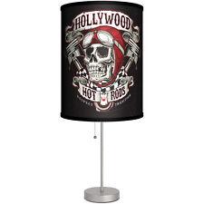 Lamp-In-A-Box Hollywood Hot Rods Skull Table Lamp Pistons Kustom Kulture
