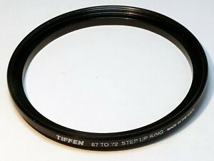 Tiffen 67mm to 72mm filter ring Metal adapter threaded step-up wide angle