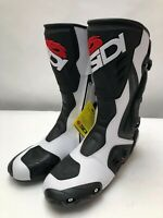 Sidi Roarr Armoured Motorcycle Road Race Boots -  White / Black size 46