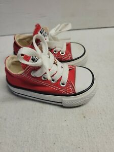 Converse All Star Low Chucks Infant Toddler Burgundy Canvas Shoe 739794F