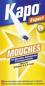 Mouches sticker Kapo Expert - 12 bandes transparentes