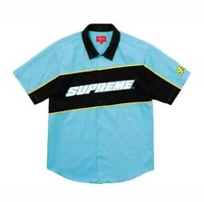 SUPREME Color Blocked Work Shirt Bright Blue Size LG NWT