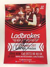Snooker ladbrokes WORLD GRAND PRIX Flyer 2017. firmato da Michael Holt.