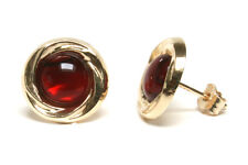 9ct Gold Red Abalone Paua Shell Stud earrings Gift Boxed Studs Made in UK