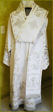 Orthodox Bishop Vestment Embroidered Crepe Satin  any color made to order