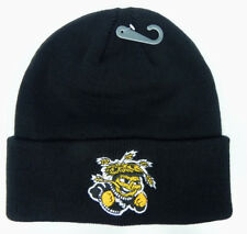 WICHITA ST. STATE SHOCKERS BLACK NCAA BEANIE TOP OF THE WORLD KNIT CAP HAT NWT!