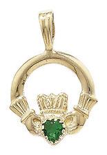 Collares y colgantes de joyería con gemas colgantes religiosos de oro amarillo