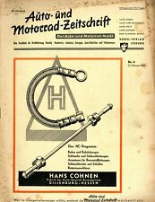 Der Auto-Markt 1950 8/50 Auto- und Motorrad-Zeitschrift Gutbrod Superior 600