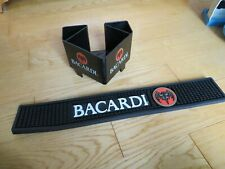Bacardi Rum Bar Spill Mat & Napkin holder Nice Man cave advertisning Mojito