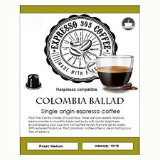 50 Nespresso capsules compatible FRESHLY ROASTED Single Origin Coffee COLOMBIA