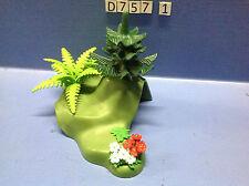 (D757.1) Playmobil base herbe, petite cachette animaux forêt, zoo, savane