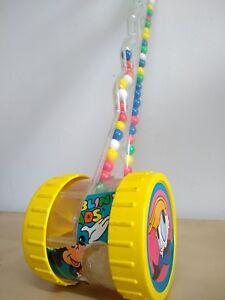 Vintage 1985 Mattle Inc Disney Roller Push Pull Toy