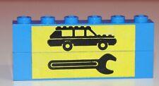 Lego Stein Brick, Werkstatt, bedruckt