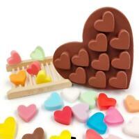 Herzform Silikon Backform DIY Schokolade Seife Formt Kuchen Dekoration G6V