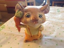 Homco ceramic mouse with carrot figurine #5601