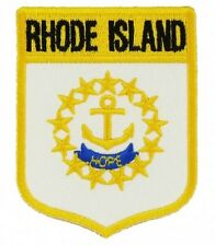 """RHODE ISLAND STATE SHIELD FLAG EMBROIDERED PATCH - IRON-ON - NEW  3.5"""""""
