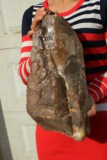 Natural rare giant purple hair backbone crystal treasure specimen + red mica 02
