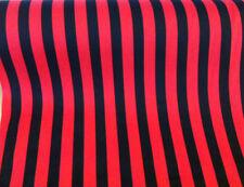 5 metres Black & Red Candy Cane/Stripe Polycotton Fabric