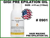 4oz  Gigi Pre Epilation Oil Hair Waxing  0901