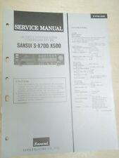 Sansui Service Manual~S-X700/X500 Receiver~Original