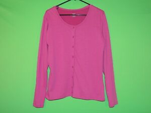 Patagonia Womens Size L Large Magenta Long Slv Button Front Shirt