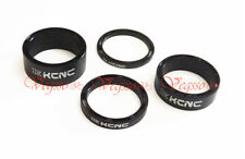 NEW KCNC HEADSET SPACER SET 3-5-10-14MM  AL6061 HOLLOW DESIGN, BLACK