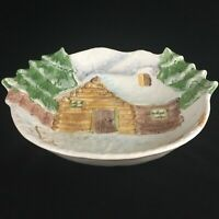 """Large VTG Serving Bowl 13 3/4"""" by The Cellar Log Cabin Christmas Made in Italy"""