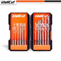 """WellCut WC-HSS12HU ¼"""" 2-6.5mm HSS HEX Shank Steel Drill Bit Set with 12 Pieces"""