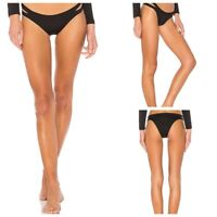 Seafolly Size 10 Womens Black Active Brazilian Bikini Bottom Swimwear