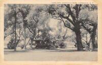 Cazenovia New York~Cazenovia Park Lakeland~Gazebo in Trees~1941 B&W Litho PC