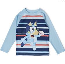 New Genuine Size 5/6/7 Bluey Long Sleeve Rashies Rash Vest UPF50+ Kids