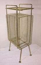 "Mid Century Modern Telephone Stand Magazine Wire Rack Holder 22""× 9.5"" x 6.5"""