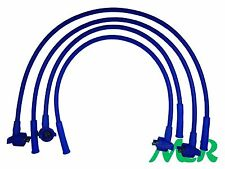 FORD ESCORT MK4 FIESTA MK3 ORION MK2 BLUE 10MM 4 CORE SILICONE IGNITION HT LEADS