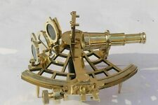 9'' Brass Sextant Marine Antique Nautical Vintage Brass Sextant Navy Instrument
